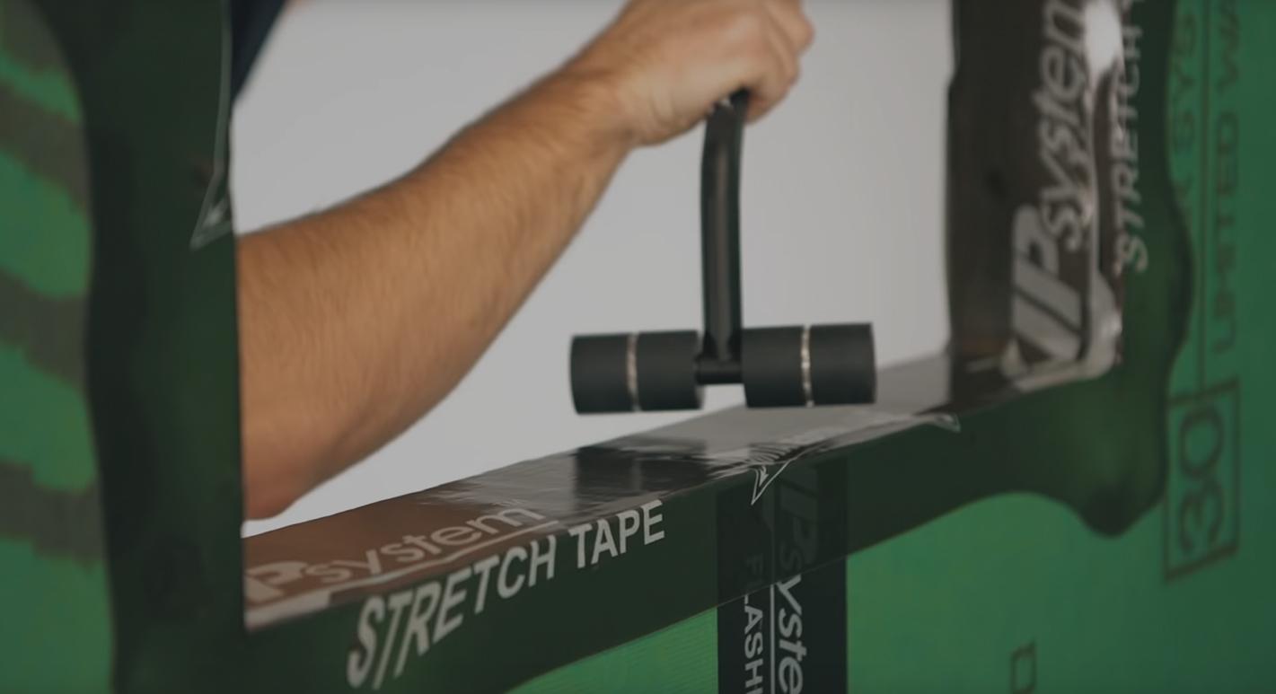 Zip wall video tape roller