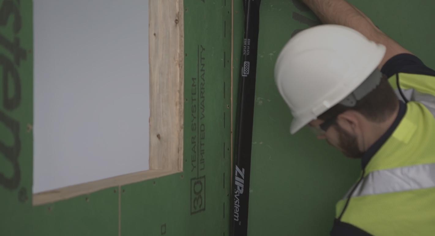 Zip wall video tape science