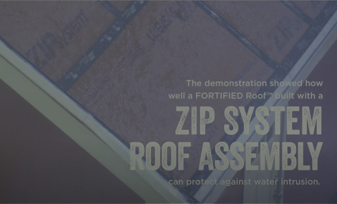 Zip System Roof Assembly