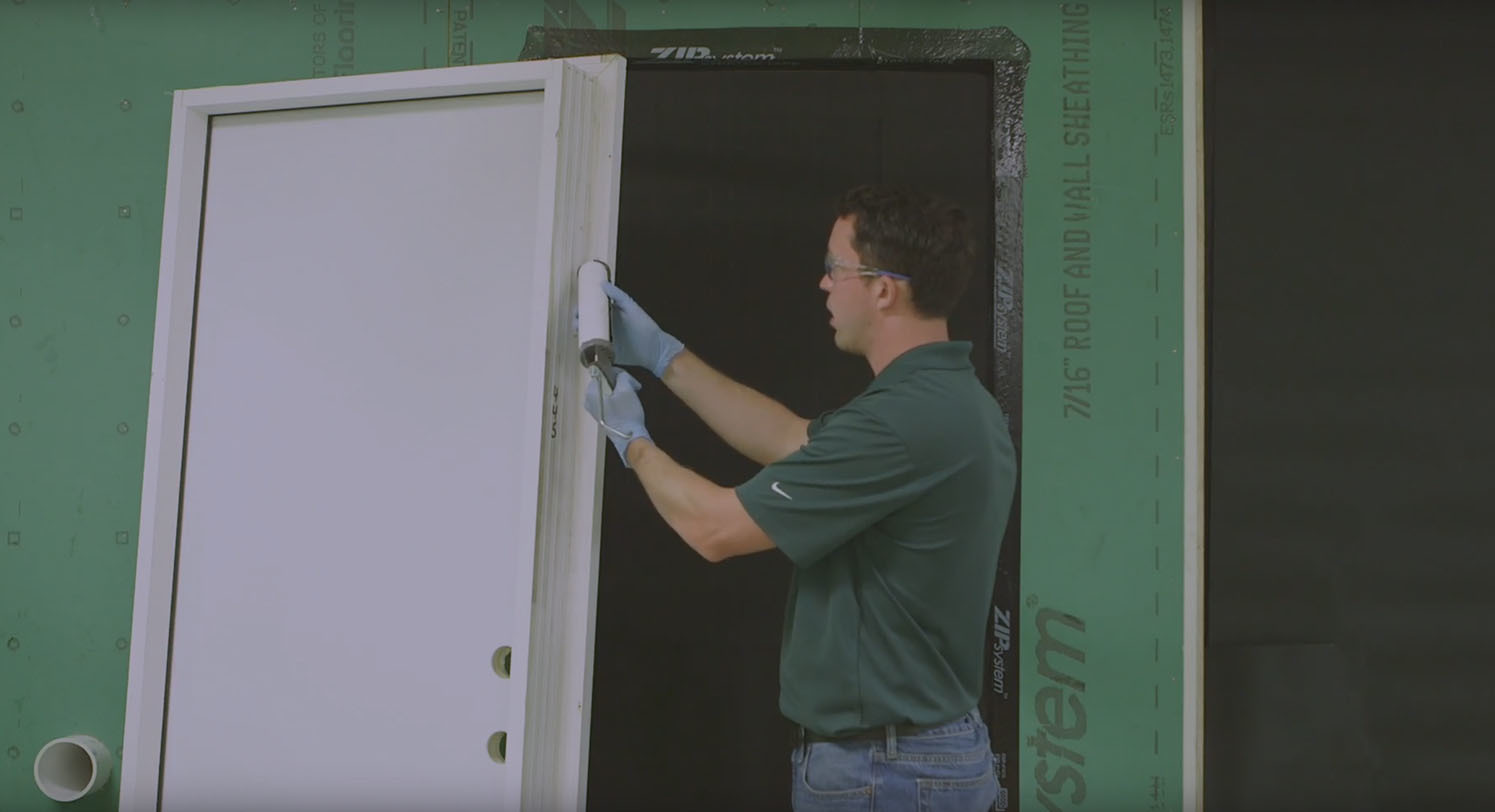 Zip flashing tape video install entry door flashing