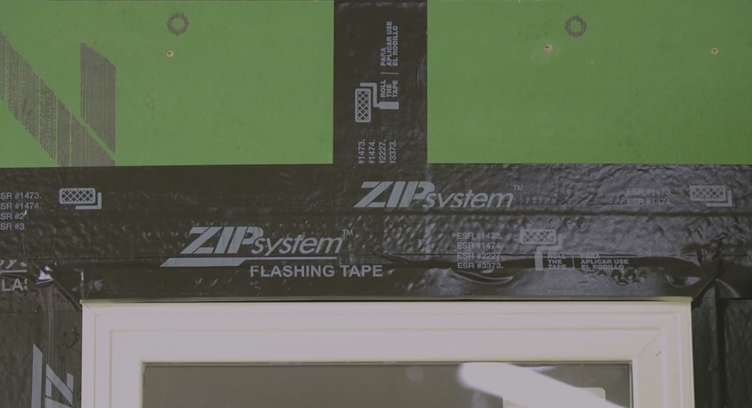 Zip flashing tape video install tjoint flashing