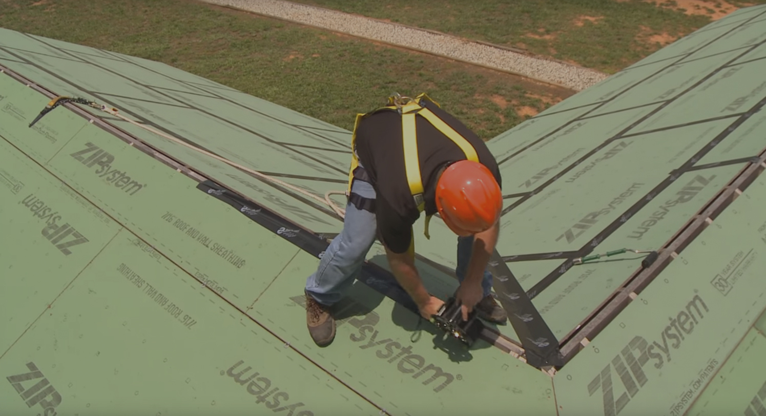 Zip roof video install taping vented ridges